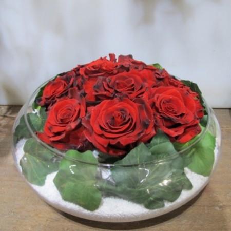 Boule de roses - Fleurs stabilisées