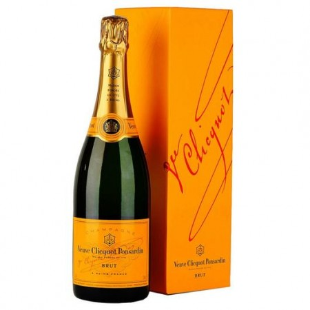 Champagne - Veuve Clicquot Yellow Label Gift Box - 75cl - wijnen en champagnes