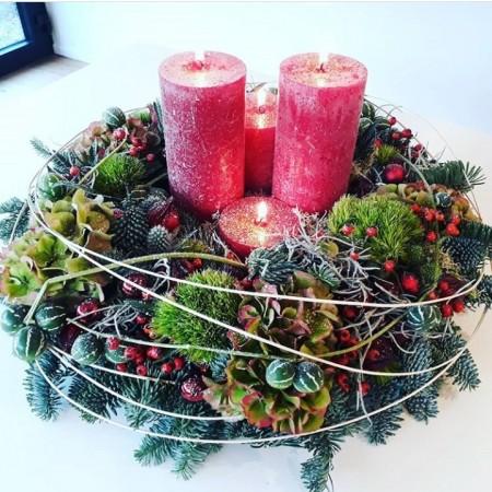 Adventskrans - kerst-decoratie