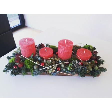 Kersttafelstuk - kerst-decoratie