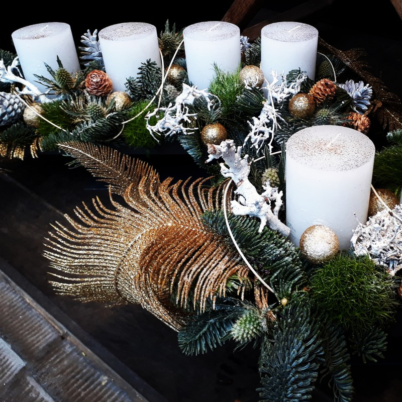 Christmas table piece: Snow - Christmas spirit