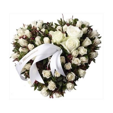Coeur de roses - Condoléances
