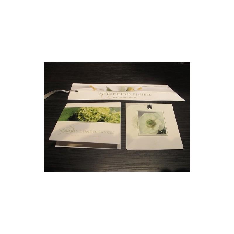 Carte de condoléances - Ruban et carte de condoléances