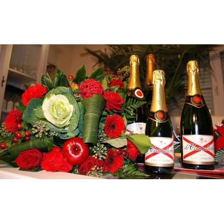 Pack champagne floral - Déclaration d'amour