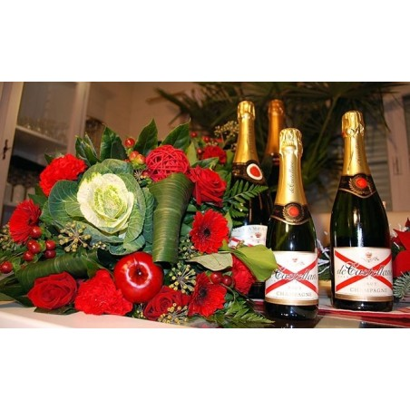 Pack champagne floral