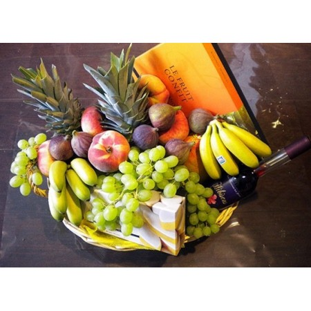 Corbeille de Fruits et Vins - Pack Gourmand