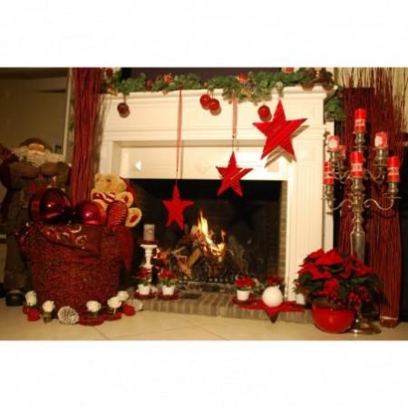 Décoration de cheminée - Esprit de Noël